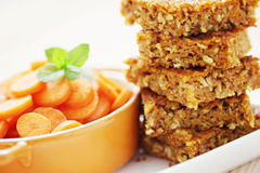 Carrot cake with coconut Stock Images