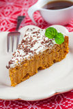 Carrot cake and coffee Royalty Free Stock Photos