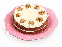 Carrot cake with cream cheese Royalty Free Stock Photos