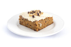 carrot cake with cream cheese butter icing Royalty Free Stock Photo