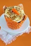 Carrot Cake Cupcake Stock Photography