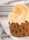 Carrot cake cupcake with cream cheese frosting Royalty Free Stock Photos
