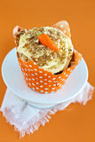 Carrot Cake Cupcake Stock Photography