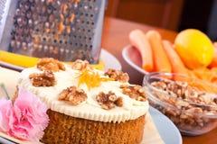 Carrot cake desert Stock Photos