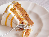 Carrot Cake Dessert Stock Photo