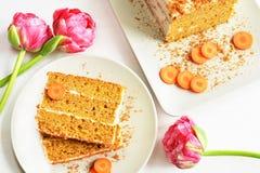 Carrot cake dessert Stock Image
