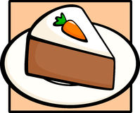 Carrot cake in dish. Illustration of a carrot cake slice in a dish Royalty Free Stock Photography