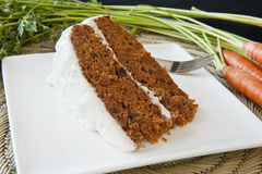 Carrot Cake with Fresh Carrots Royalty Free Stock Photos