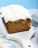 Carrot cake with frosting Royalty Free Stock Image