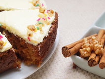 Carrot Cake - Healthy Choice! Royalty Free Stock Images