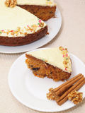 Carrot Cake - Healthy Choice!. A piece of carrot cake ready to be served Stock Image