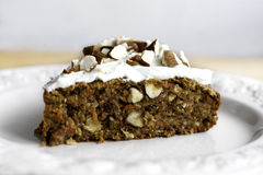 Carrot Cake. Healthy carrot cake with sour cream stock images