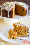 Carrot cake with icing Stock Image