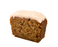Carrot cake isolated Stock Image