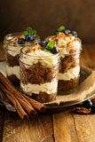 Carrot cake in a jar Stock Image