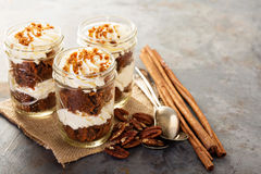 Carrot cake in a jar Stock Photography
