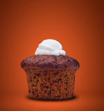 Carrot cake-muffin Stock Images