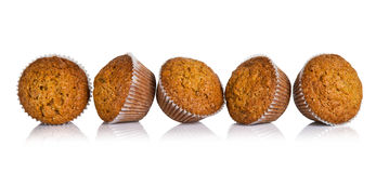 Carrot cake muffins Stock Images