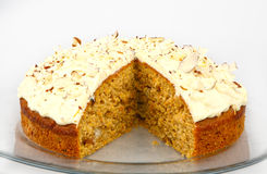 Carrot cake with nuts Royalty Free Stock Image