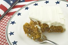 Carrot Cake with Patriotic Theme royalty free stock image