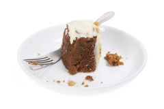 Carrot Cake on Plate Stock Image