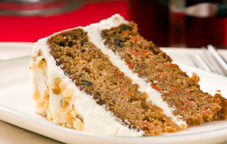Carrot cake on a plate Stock Photo