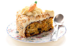 Carrot cake on a plate. Royalty Free Stock Photo