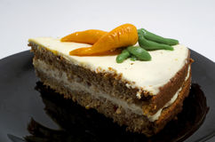Carrot cake. Slice on plate royalty free stock photo