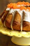 Carrot cake with sugar glaze. royalty free stock photo
