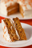 Carrot cake vertical Royalty Free Stock Photos