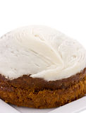 Carrot cake on white Stock Photography