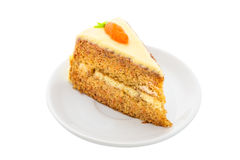 Carrot Cake on white dish Royalty Free Stock Images