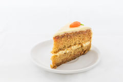 Carrot Cake on white dish Stock Photography