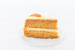Carrot Cake on white dish Royalty Free Stock Photo