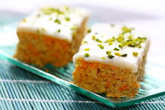 Carrot cakes Stock Images