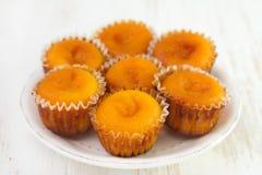 Carrot cakes on dish Stock Photos