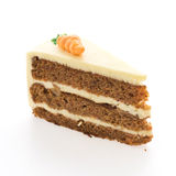 Carrot cakes isolated Royalty Free Stock Photos
