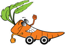 Carrot car Stock Image