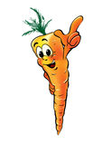 Carrot cartoon character Royalty Free Stock Photo