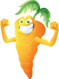 Carrot cartoon posing Stock Image