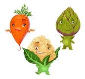 Carrot, Cauliflower and Artichoke Stock Photos