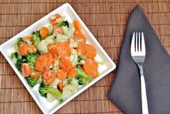 Carrot, cauliflower and broccoli Stock Photos