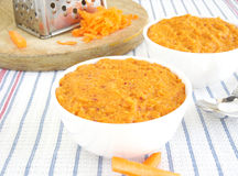 Carrot Chutney. A side dish, made from carrot gratings Royalty Free Stock Photos
