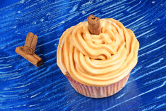 Carrot and cinnamon cupcake Royalty Free Stock Photography
