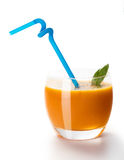 Carrot cocktail with spinach Royalty Free Stock Photos