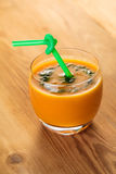Carrot cocktail with spinach Royalty Free Stock Photography
