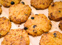 Carrot cookie with raisins Royalty Free Stock Photography