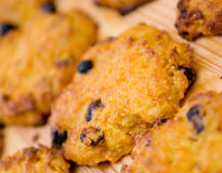 Carrot cookie with raisins. Royalty Free Stock Photos
