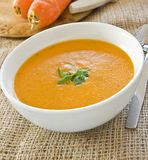 Carrot Coriander Soup Royalty Free Stock Photography