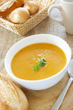 Carrot & Coriander Soup Stock Image
